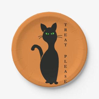Prato De Papel Os deleites satisfazem o gato