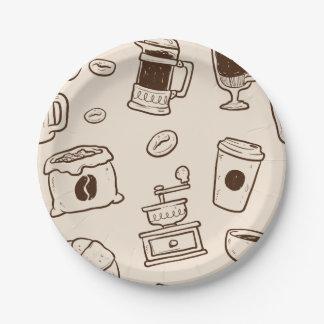 Prato De Papel Os feijões de café de Brown ilustraram o teste