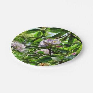 Prato De Papel Os rododendros estão na flor