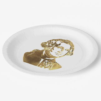 Prato De Papel Ouro americano do retrato do presidente George