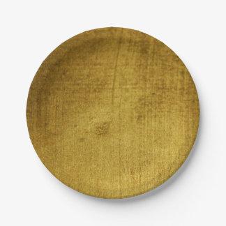 Prato De Papel Ouro do Vintage-Olhar usado