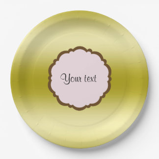 Prato De Papel Ouro glamoroso personalizado