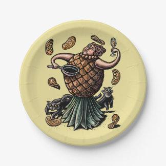 Prato De Papel Panquecas do fazer do cozinheiro chefe do abacaxi