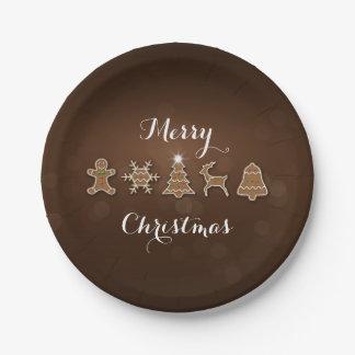 Prato De Papel Pão-de-espécie nobre do Natal - placa de papel
