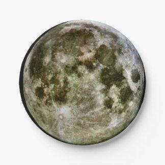 Prato De Papel Papel da Lua cheia