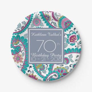 Prato De Papel Papel P da festa de aniversário do 70 de Boteh