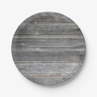 Prato De Papel Parede de madeira resistida rústica