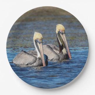 Prato De Papel Pares de pelicanos