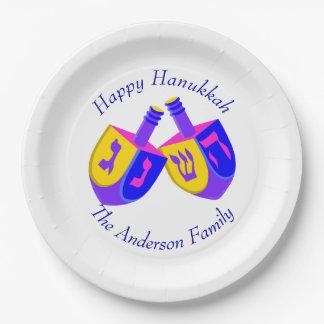 Prato De Papel Partido alegre colorido dos miúdos de Hanukkah