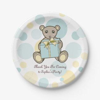 Prato De Papel Partido de aniversário de criança bonito do chá de