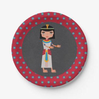 Prato De Papel Partido de aniversário de criança egípcio da dança