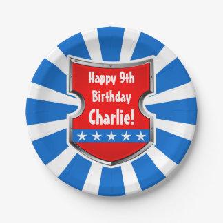 Prato De Papel Partido de aniversário de criança patriótico dos