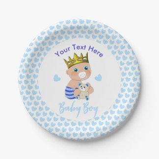 Prato De Papel Partido de chá bonito do príncipe bebé dos