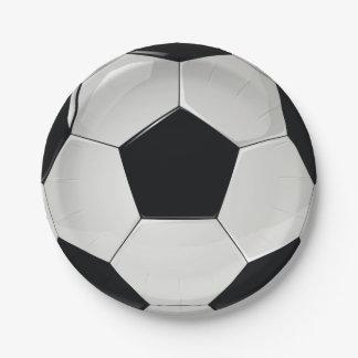 Prato De Papel Partido do futebol do futebol dos esportes