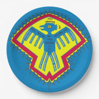 Prato De Papel Pássaro do nativo americano