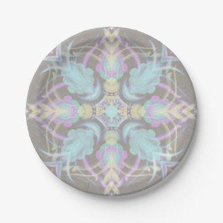 Prato De Papel Pastel na mandala concreta da rua (variação)