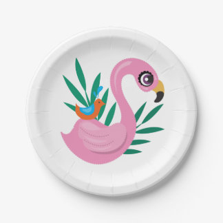 Prato De Papel Patinho cor-de-rosa