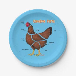 Prato De Papel Peças da galinha