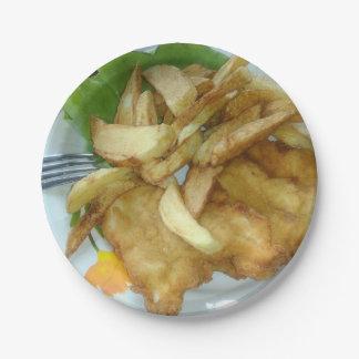 Prato De Papel Peitos de frango Roasted com batatas fritadas