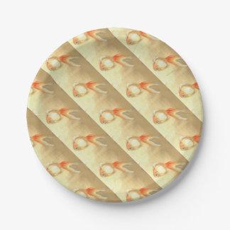 Prato De Papel Peixe dourado japonês
