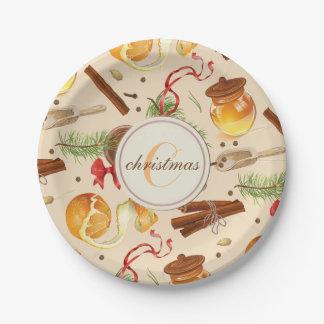 Prato De Papel Perfumes do vintage do Natal