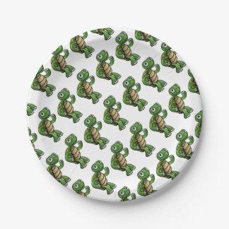 Prato De Papel Personagem de desenho animado da tartaruga
