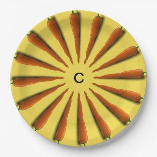 Prato De Papel Personalize a placa do partido das cenouras