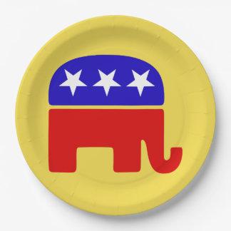 Prato De Papel Personalize a placa republicana do partido do