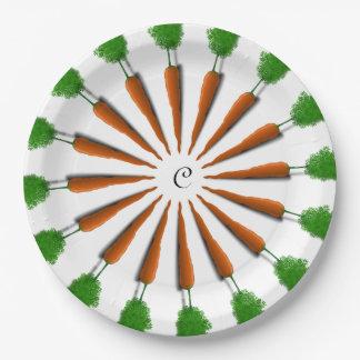Prato De Papel Personalize o partido das cenouras