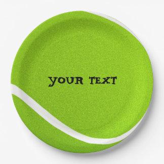 Prato De Papel Personalize o partido legal da bola de tênis