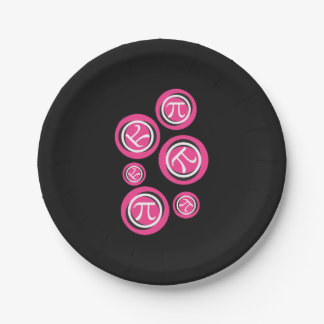 Prato De Papel Pi cor-de-rosa - Símbolos do Pi - dia do Pi