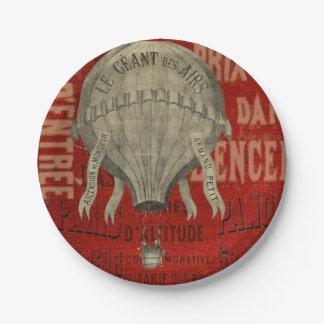 Prato De Papel Pias batismais gráficas do passeio do Ballon do ar