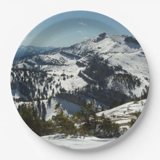Prato De Papel Picos nevado de montanhas grandes de Teton II