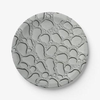 Prato De Papel Pingos de chuva no telhado de vidro