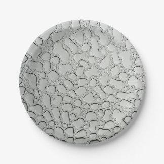 Prato De Papel Pingos de chuva pequenos no telhado de vidro