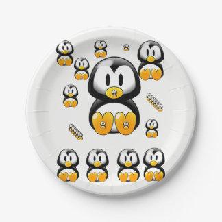 Prato De Papel Pinguins das placas de papel