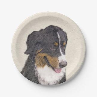 Prato De Papel Pintura do cão de montanha de Bernese - arte