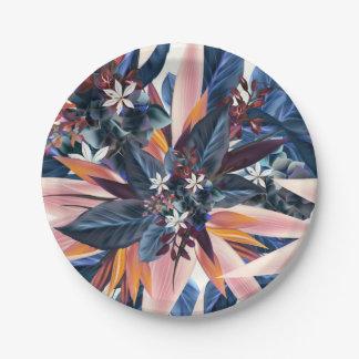 Prato De Papel Pintura pointy moderna elegante da arte da folha