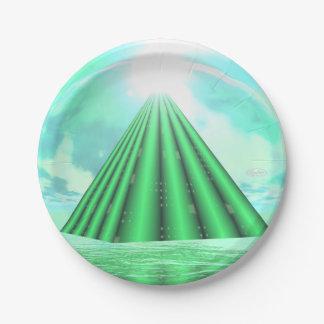 Prato De Papel Pirâmide Mystical - 3D rendem