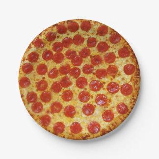 Prato De Papel Pizza de Pepperoni