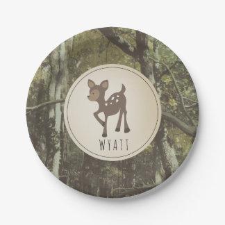Prato De Papel Placa Camo 2 dos cervos de Wyatt