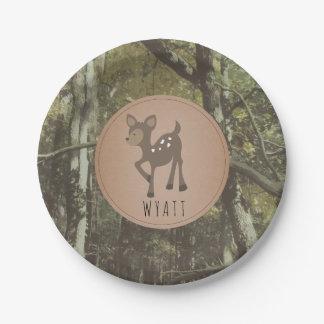 Prato De Papel Placa Camo dos cervos de Wyatt