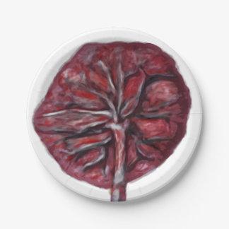 Prato De Papel Placa da placenta, chá de fraldas, abençoando a