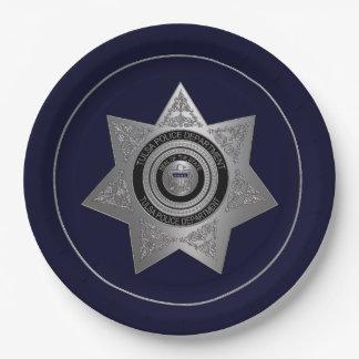 Prato De Papel PLACA da Tulsa-Polícia-Departamento-Crachá-OPÇÃO