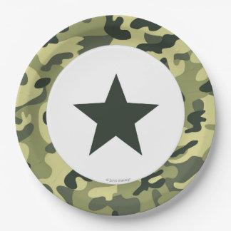 Prato De Papel Placa de comensal do papel do exército do soldado