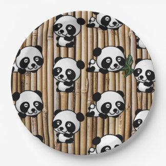 Prato De Papel Placa de papel bonito do impressão da panda & do