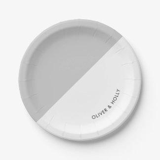 Prato De Papel Placa de papel cinzenta mínima moderna