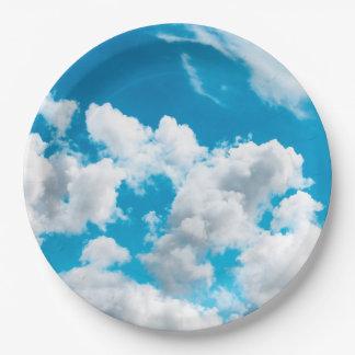 Prato De Papel Placa de papel com o motivo do céu