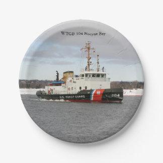 Prato De Papel Placa de papel da baía de WTGB 104 Biscyne