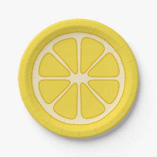 Prato De Papel Placa de papel da fatia brincalhão do limão
